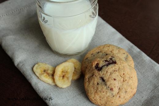 Banaani-suklaacookies
