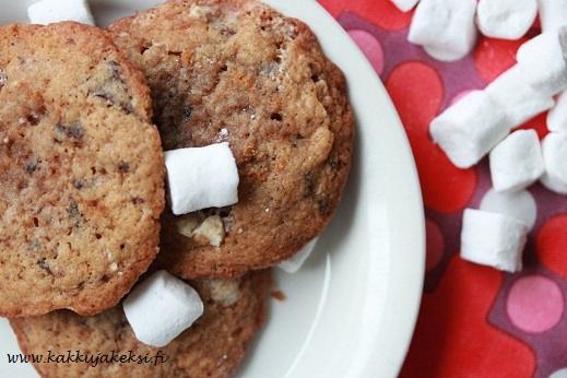 Vaahtokarkkicookies