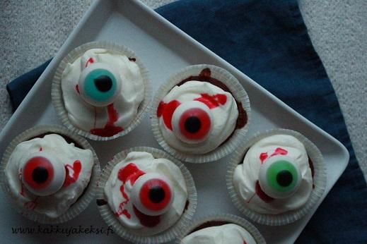 Halloweenin silmämunamuffinssit