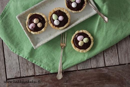 Pienet suklaiset pääsiäispiiraat